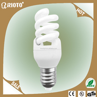 High quality T3 9MM 15W Full spiral Compact Fluorescent lamps CE/ROHS