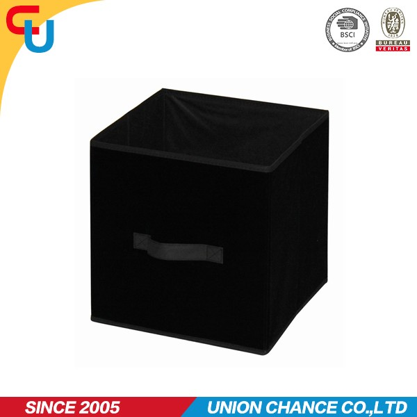 folding cube storage box with lid