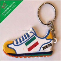 Custom made Shoes shape pvc soft rubber keychains - OEM Factory