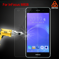 Treated Glass Screen protector for Infocus M808, for M808 Mobile Phone Protector Tempered Glass Screen