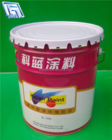 18L galvanized round steel drums with flower/beading lid and handle