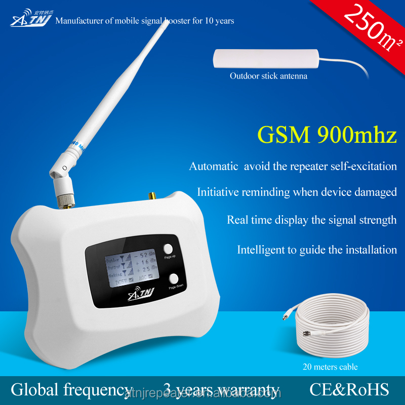 250sqm coverage gsm 900 cell phone quad band signal repeater