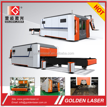 Metal Sheet Fiber Optics Laser Cutting Machine with Closed Type Shuttle Tables