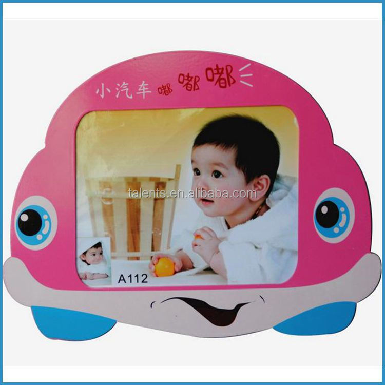 MDF car shape photo frame/Children funny picture frame