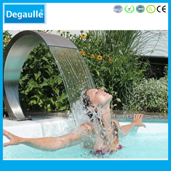Degaulle swimming pool fountain waterfall with ornaments stainless steel