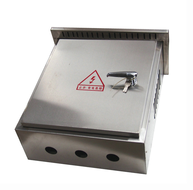 IP65 waterproof stainless steel <strong>electricity</strong> cabinet with rain cap