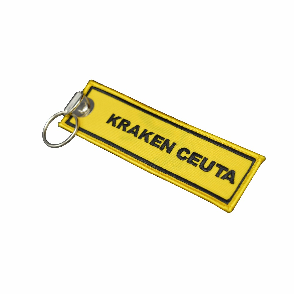 embroidered fabric keychain wholesales custom keychains