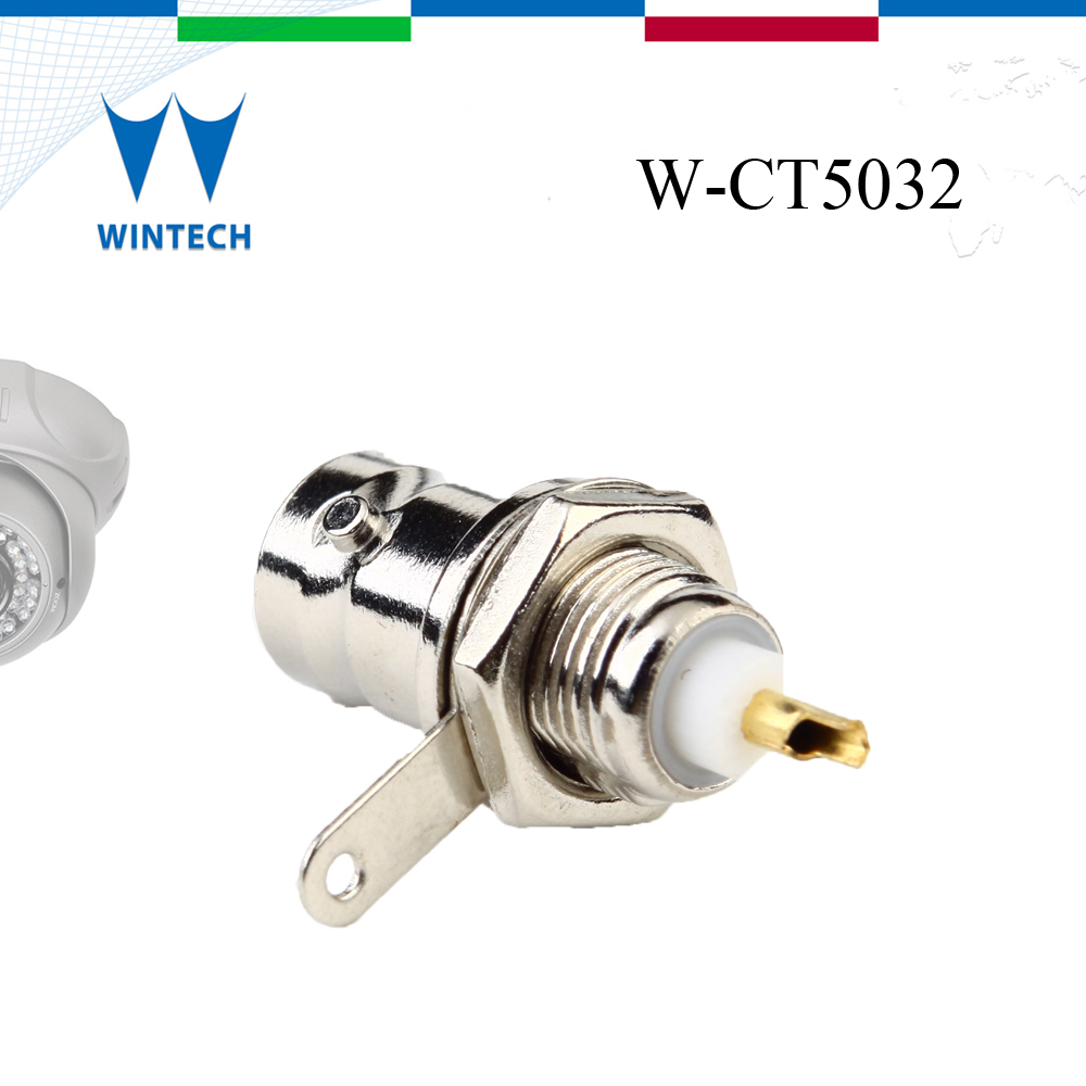 factory price bnc female bulkhead waterproof connector