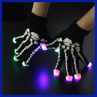2016 Amazon Supplier New Design Party favor Cotton led Flashing glove Glow in the dark gloves