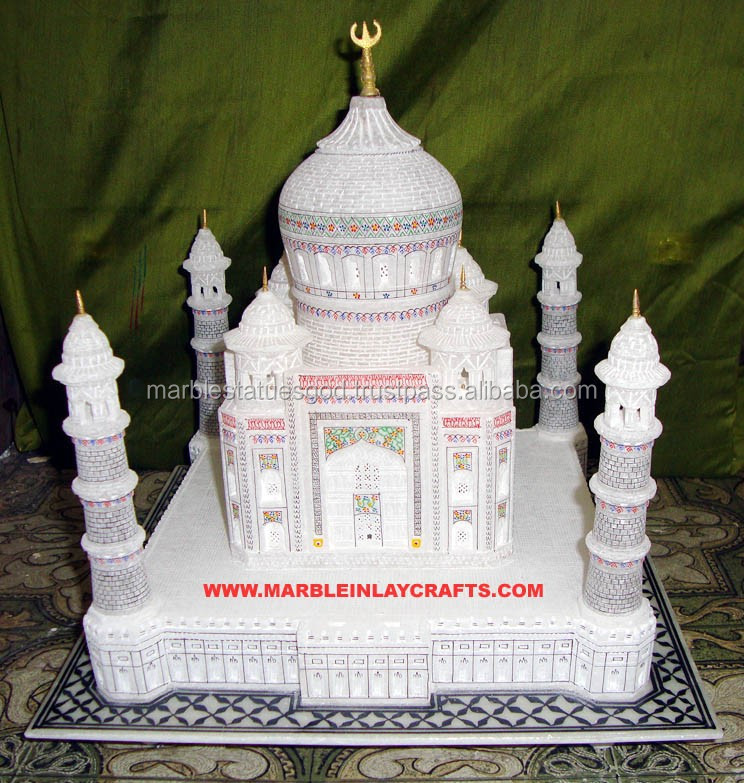 Hand Carved Decorative Taj Mahal Model Showpiece Valentine Gifts Indian Souvenir India