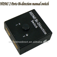 hdmi Bi-direction switcher 2x1 HDMI Switcher spliiter 2 Ports / AB Full 1080P hd hdmi converter