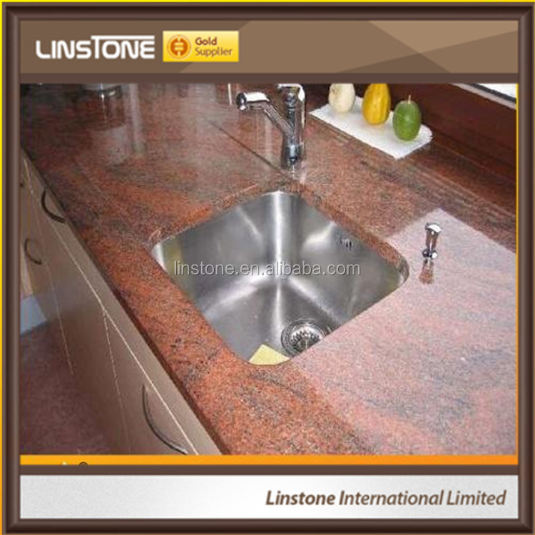 Good Sale Indian Multicolor Red Granite Kitchen Countertop Island top