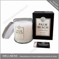 luxury scented soy wax candle in glass jar