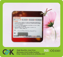 top quality pvc scratch phone card with SGS assurance