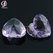 Mystery color heart shaped birthstone light purple cutting gems price