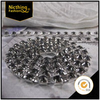 Fashion Wholesale Fancy 6mm rhinestone cup chain trimming, strass bridal cup chain stones in roll