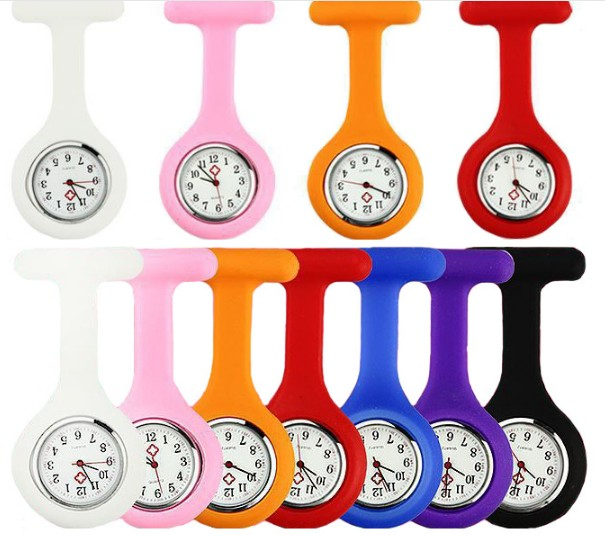 2018 Wholesale promotion silicone nurse watch/doctor watch /pocket silicone watch