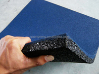 EPDM Noise Reduction Training room non-toxic Rubber gym floor tile