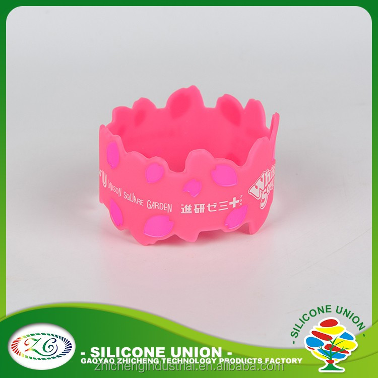 2016 Crown cheap high quality silicone wristbands rubber bracelet bangle