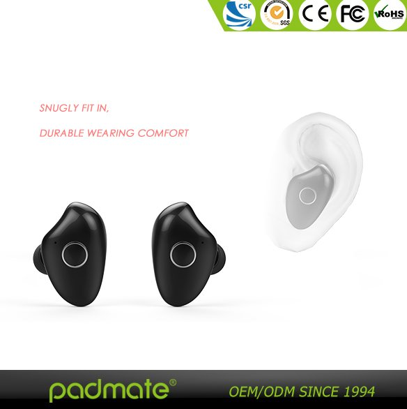 With Charing Station Bluetooth Stereo Twins Earphone