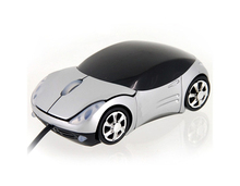 Racing car shape usb wired optical mouse