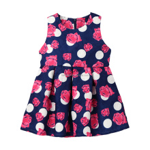 fashion dresses for 2-8 years kids girl Sleeveless dress girls frock designs for summer
