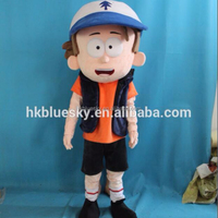 2017 Hot Factory Directly Sale Dipper Gravity Falls Mascot Costume