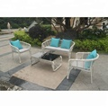 China Supplier Unique Design White Rattan Outdoor Furniture, Used White Wicker Furniture