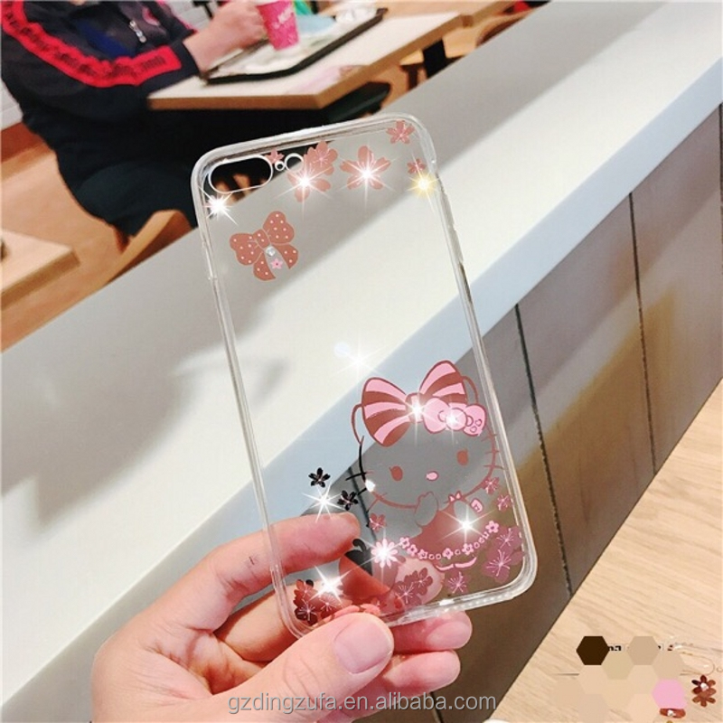 Transparent TPU+PC <strong>2</strong> in 1Back Cover gold Plating with drill plastic monile Phone case For Samsung galaxy J2/J200F