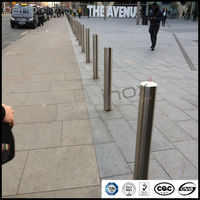 stainless steel base plate traffic bollard,street bollard,road barrier for whosale