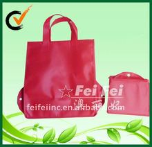 Eco friendly recycled folding tote nonwoven foldable travel bag