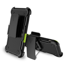 Heavy Duty Rotation Kickstand Hybrid TPU PC Holster for iPhone 7 7 Plus 8 8 Plus Belt Clip Case