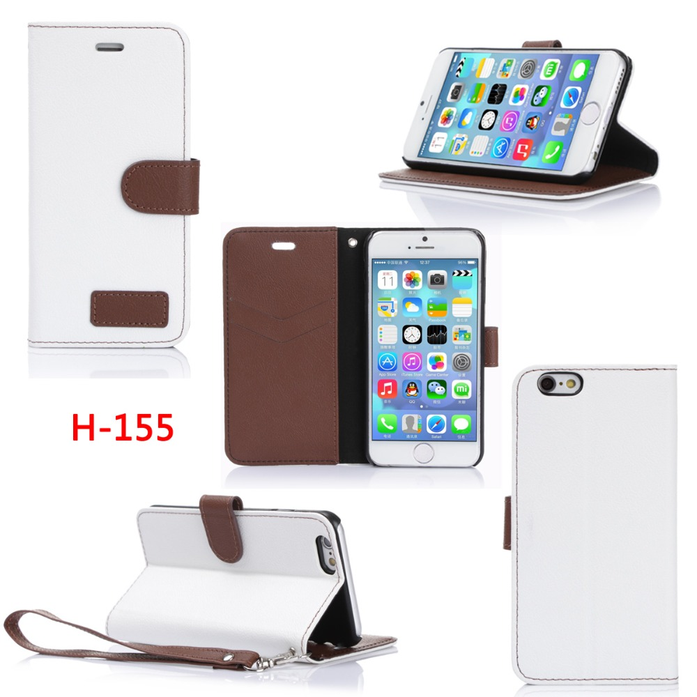 New 2016 PU Material Stand and Flip Mobile Phone Case For Iphone6 4.7inch
