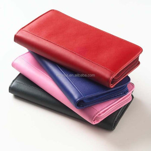 Zip Around Leather Travel Passport Wallet, New Design Business Style Leather Passport and Ticket Holder