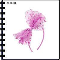 Fashion Hair Accessories Plastic Headband With Big Bow