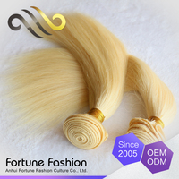 China supplier 9a grade 26 inch human hair extensions color 613 blonde hair weave