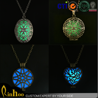 Wholesale latest design custom glow in the dark necklace jewelry fashion