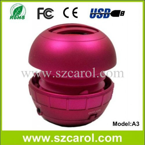 2013 new coming woofer computer multimedia portable mini speaker up to 12 hours playback CE ROHS speaker for computer