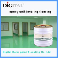 Self-leveling anti-dust epoxy flooring coating