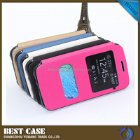 Two view window slim flip phone cover for Samsung Galaxy J7, magnetic stand PU leather case for Samsung J7
