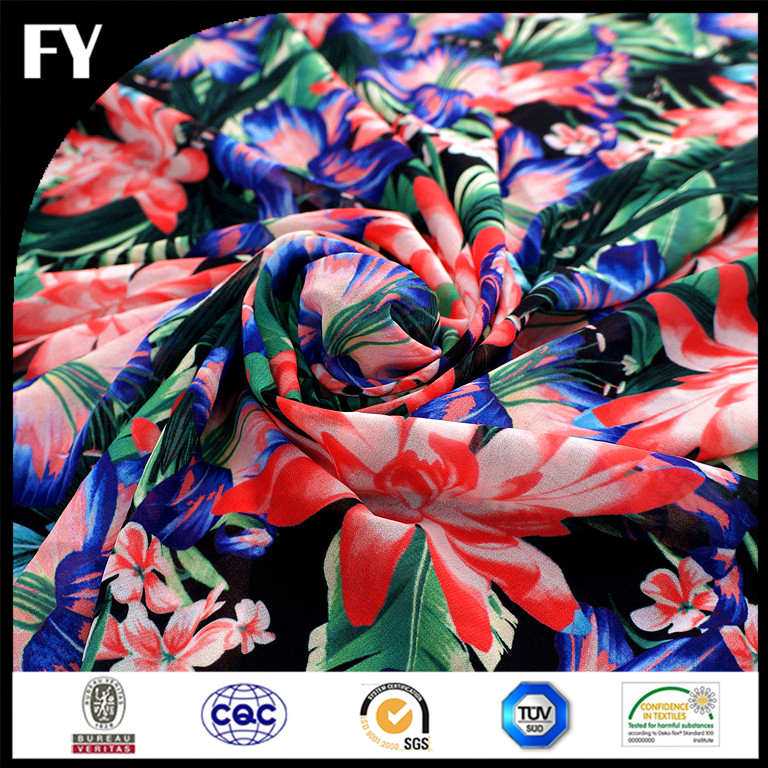 Factory direct custom high quality digital spandex polyester tube fabric