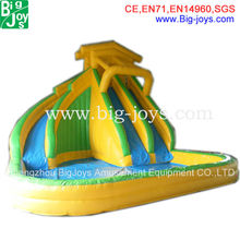 Commercial grade inflatable sets spongebob inflatable water slide for sale