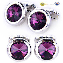 American hot style custom wholesale quality promotional crystal cufflink