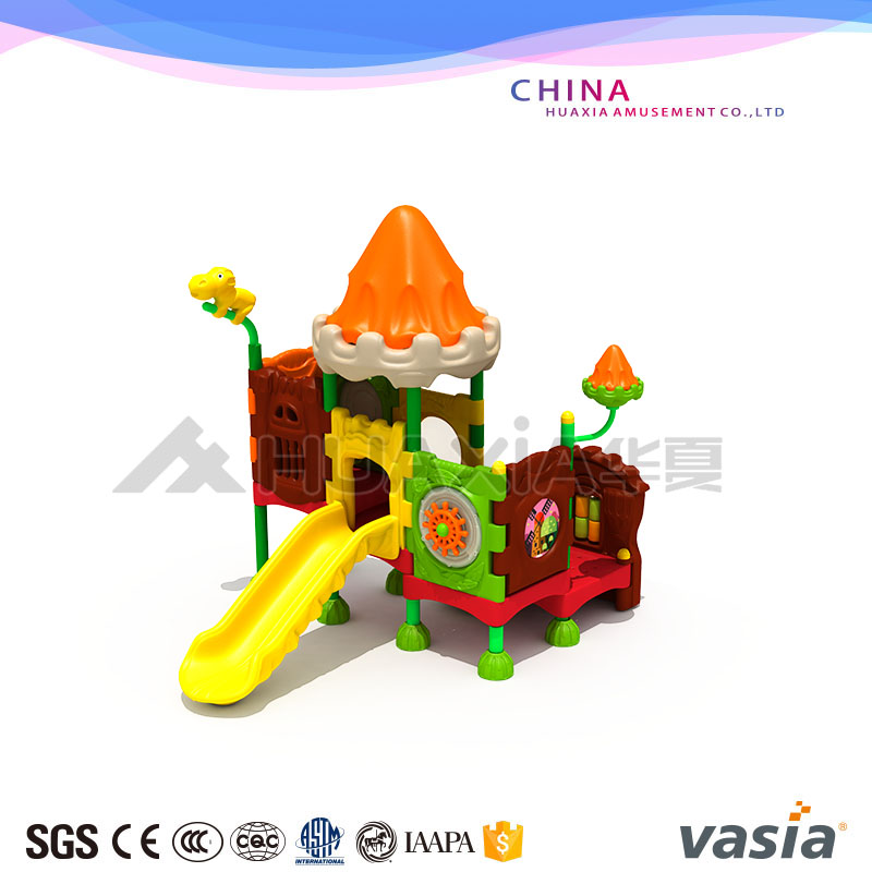 Vasia Plastic Castle Kids Play Outdoor Playground Equipment China Suppliers for Sale