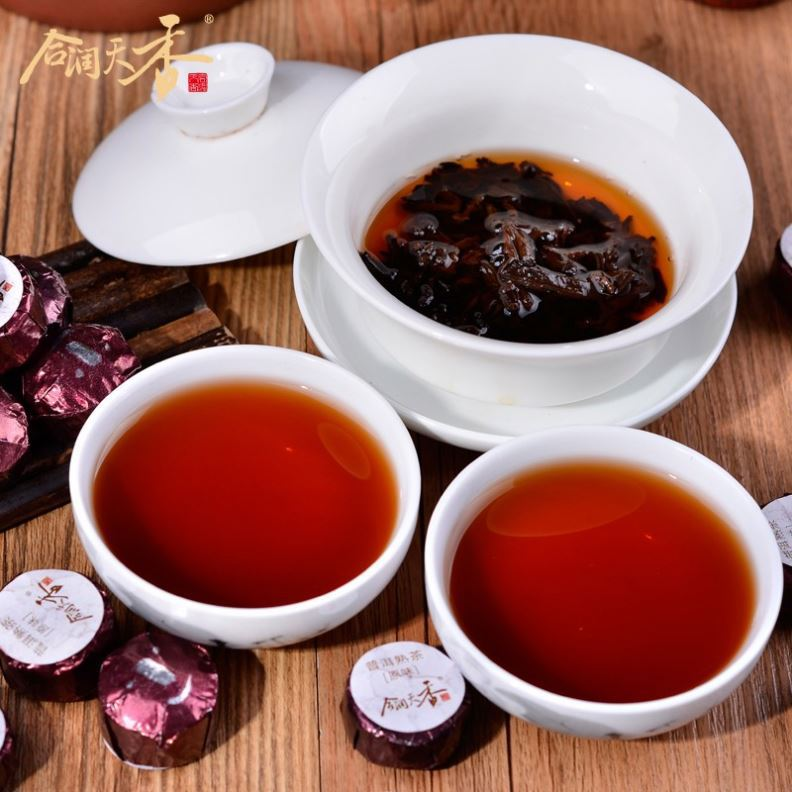 cooked organic blood fat reducing tea puer wholesale flavored tea
