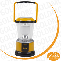 3*AA battery powered 5 LED yellow solar camping light continuously working for 12 hours