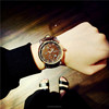 4.2cm big dial genuine leather calendar unisex wrist watch,vintage man quartz watch gift(SWTPW37)