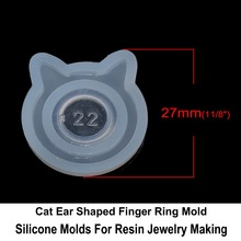 Cheap Price Liquid Epoxy Resin Cat Ears Finger Ring DIY Jewelry Casting Mold DIY Tools