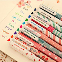 10 pcs/lot New Cute Cartoon Colorful Gel Pen Set Kawaii Korean Stationery Creative Gift School Supplies
