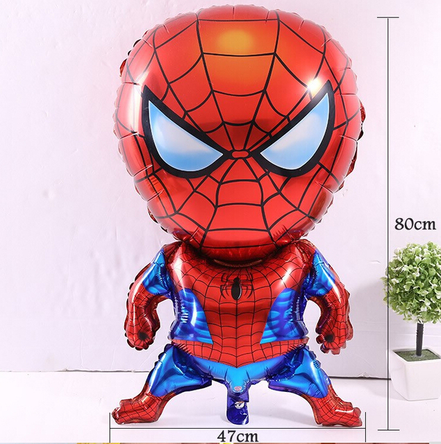 1pcs 80*47cm Spiderman Balloons Classic Toys Christmas Birthday Wedding Decoration Party inflatable air balloons
